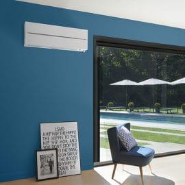 une climatisation dans un salon moderne